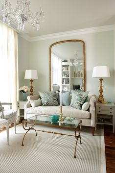 pretty paint colour and really nice living room (might have pinned this before)