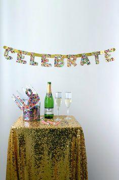 Confetti celebrate banner diy project