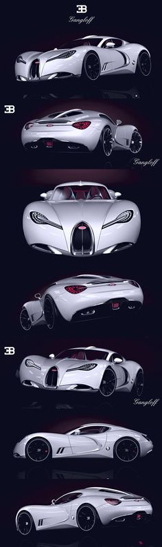 BUGATTI   GANGLOFF   CONCEPT CAR , INVISIUM by Pawe? Czy?ewski, via | http://awesomesportcarscollections.13faqs.com
