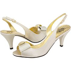 2.5 inch, ivory satin with gold accents