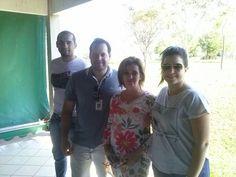 Alexandre Batista do Carmo, Otton Garcia de Arruda, Adriana Armani e Paula Berto Papa, trabalhando para o sucesso dos eventos da Semana da Árvore