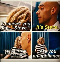 Haha! Love this film! :-D - Whatever you say Stove. Lol One of my favorite parts. Bridesmaids. Kristin Wiig