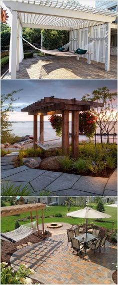 6 Fascinating Cool Ideas: Backyard Garden Shed Beautiful backyard garden pergola vines.Backyard Garden Oasis Lawn backyard garden on a budget kids. Pergola Patio, Small Pergola, Pergola Swing, Deck With Pergola, Pergola Shade, Diy Patio, Backyard Landscaping, Gazebo, Modern Pergola