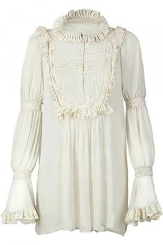 ShopStyle: Roberto Cavalli Vanilla Laced Top With Ruffle Detailing
