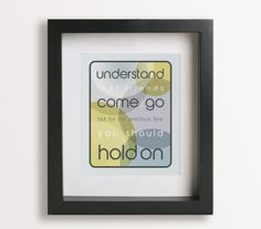 Everybody's Free - To Wear Sunscreen /  Baz Luhrmann - Music Lyric Art Print, graduation gift. $19.95, via Etsy.