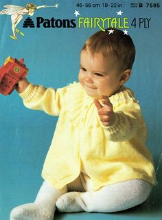 Baby Knitting Patterns Arm baby / babies matinee coat / cardigan 18 to 22 by Hobohooks, Cardigan Pattern, Baby Cardigan, Baby Knitting Patterns, Baby Patterns, Crochet Patterns, Easy Knitting, Spool Knitting, Quick Knits, Baby Yellow