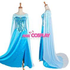Frozen Elsa Dress Disney Movie Costume Cosplay