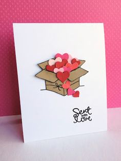 Simon Says box stamp and heart dies