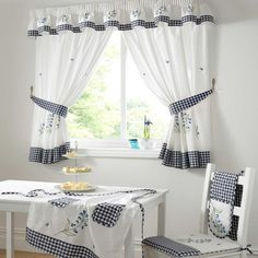 #Kitchen #Curtains | ... Kitchen › Curtains › PREMIUM QUALITY BLUEBELL KITCHEN CURTAINS