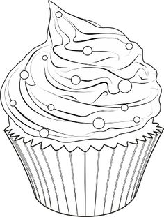 30 Meilleures Images Du Tableau Cupcakes Coloriage Dessin