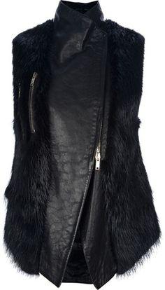 Givenchy Black Fur Gilet