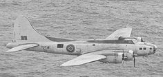 B17 in RAF Coastal Command service, mid 1942.  After experimental use of early variants as bombers had not proved successful (still too lightly armed to survive by day, and a much lighter bomb load than RAF heavy bombers) most were used in this role: they proved very effective during the Battle of the Atlantic.