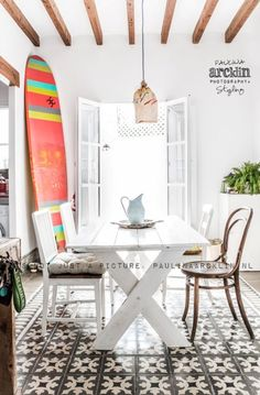 Antic&Chic. Decoración Vintage y Eco Chic: [Get the look] Cómo decorar con estilo surfero