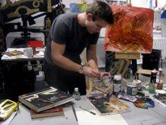 Dan Llywelyn Hall in his studio Website Coming Soon, Past, Studio, Past Tense, Studios