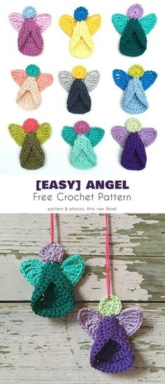 Easy Angel Free Crochet Pattern This lovely angel is very quick to make and is a must for your Christmas tree. A simple pattern, perfect for beginners! Informations About Easy Angel Free Crochet Patte Easy Knitting Projects, Knitting For Beginners, Crochet Projects, Start Knitting, Free Knitting, Knitting Toys, Knitting Stitches, Simple Knitting, Knitting Ideas