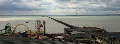 World's longest 'pleasure pier' at Southend-on-Sea, England