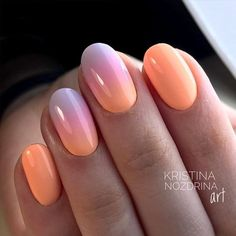 30 Wonderful Ombre Nail Designs For Your Inspiration Maniküre Ombre Nail Designs, Nail Art Designs, Cute Nails, Pretty Nails, Hair And Nails, My Nails, Nails Today, Sunset Nails, Gel Nagel Design