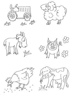 7 Best Farm Animals Colouring Images On Pinterest