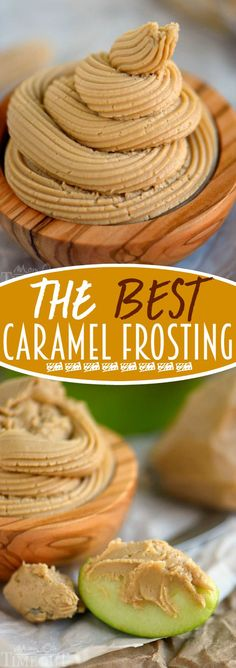 The BEST Caramel Frosting - You're going to want this on everything so go ahead and DOUBLE the recipe! Perfect for cakes, cupcakes, bread, apples and more! Cake Decorating frosting for beginners, the best cake frosting Frosting Recipes, Cupcake Recipes, Cupcake Cakes, Dessert Recipes, Frosting Tips, Fondant Recipes, Homemade Frosting, Lemon Cupcakes, Vanilla Cupcakes