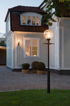 From Artsmith Style At Home, Home Focus, Nordic Home, Exterior Lighting, Home Fashion, House Colors, Old Houses, My Dream Home, Exterior Design