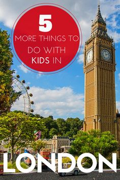 5 More Things To Do In London. Last year we wrote a popular post on 10 things to do in London with kids. This year we are adding to it. Includes Legoland, Peppa Pig World, Sea Life, Harry Potter, London Dungeons and more. TRAVEL WITH BENDER | Family Travel made easy in the United Kingdom.