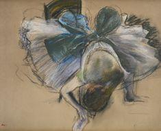 Edgar Degas – DANSEUSE RAJUSTANT SON CHAUSSON, 1887; Pastel on paper, 50x62.5cm
