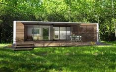 Prefab homes kits that sustainable and affordable. Find modern prefab / prefabricated modular homes plans / designs / ideas eco-friendly here. Container Home Designs, Container Homes For Sale, 20ft Container, Container Cabin, Cargo Container, Container Gardening, Modern Prefab Homes, Prefabricated Houses, Modern Tiny Homes