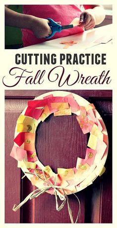 Cutting Practice Thanksgiving Wreath
