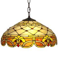 Amora Lighting Tiffany-style Style Classic 2-light Pendant Lamp