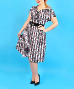 d282d64f669 Cherry Velvet Black   Red Checkered Trudy Dress - Women   Plus by Cherry  Velvet  zulilyfinds