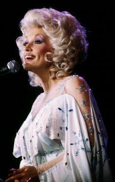 Dolly Parton makeup wig dress