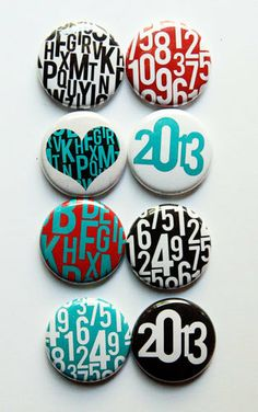 Numbers and Letters Flair 2 by aflairforbuttons on Etsy, $6.00  #aflairforbuttons #flair