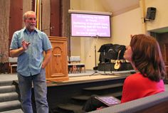 Pastor Tim sharing tech tips