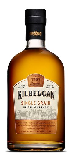 Kilbeggan Single Grain Irish Whiskey x l) Scotch Whisky, Malt Whisky, Bourbon Whiskey, Rum Bottle, Liquor Bottles, Whiskey Bottle, Whisky Club, Strong Drinks, Vodka Drinks