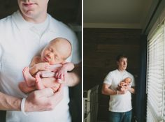 Newborn photography with father. www.morganmariephotography.com