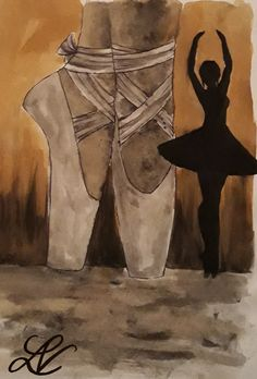 #ballet #coffee #drawing #watercolour