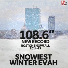 """Well, we are """"title town,"""" right? #Boston finally breaking the snow record. @Met_CindyFitz has our forecast. #WCVB"""