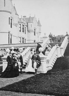 Group photograph of the family of Queen Victoria at Balmoral, 1868 | Royal Collection Trust