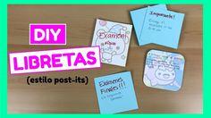 DIY Cómo hacer libretas caseras (estilo post-its)! Son súper fáciles de hacer, se ven súper lindas y son muy prácticas para tus notas, recordatorios, etc... Además las puedes personalizar de tus colores, formas y personajes favoritos! Y mira lo fácil que convertirlas en post-its! ;) Ideas Paso A Paso, Ideas Para, Back To School, Diy, Youtube, Paper, How To Make, Report Cards, Day Planners