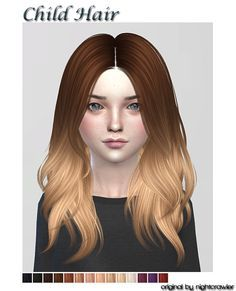 Hi^^ • here are the next hairs for child • hat compatible • original mesh/texture: nightcrawler & ha2d • all credits goes to both of them :3 THX Download