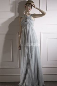 US$594.59 Brilliant Empire Cross-strap Floor-length Sweep Ruched Evening Dress. #Formal #Cross-strap #Empire #Sweep