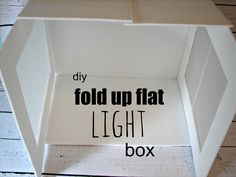 light box...diy & DIY Photo Light Box - a finish fifty project | Photo light box ...
