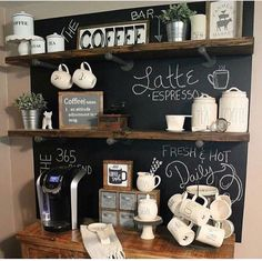 DIY Coffee Bar Ideas - Stunning Farmhouse Style Beverage Stations for Small Spac. - DIY Coffee Bar Ideas – Stunning Farmhouse Style Beverage Stations for Small Spaces and Tiny Kitchens –