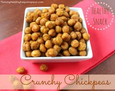 Crunchy Chickpeas - the perfect healthy snack! Full of protein and fibe