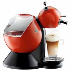 The robotic coffee machine is for the futuristic kitchens and comes in three colours.