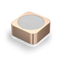 Yuwiss iPhone Speaker Portable Bluetooth Speaker with Microphone for iPhone 7 iPod iPad Loud Stereo Sound and HD Bass Hand Free Phone Call Elegant Gold ** You can find out more details at the link of the image.