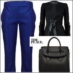 Black & blue for September days. A chic Alexander McQueen selection, available @ The Place X. http://theplacex.com/the-designers/alexander-mcqueen?p=1