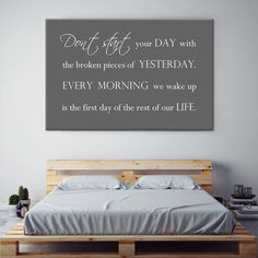 Tekst op canvas - Every morning