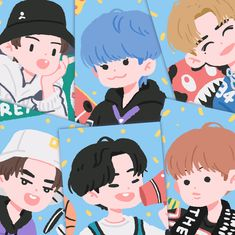 Cute Illustration, Character Illustration, Wallpaper Iphone Cute, Cute Wallpapers, Nct Logo, Cartoon Art Styles, Cute Doodles, Kpop Fanart, Aesthetic Art