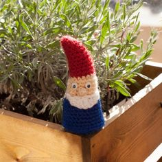 Make a cute amigurumi gnome with this beginner friendly free crochet pattern.